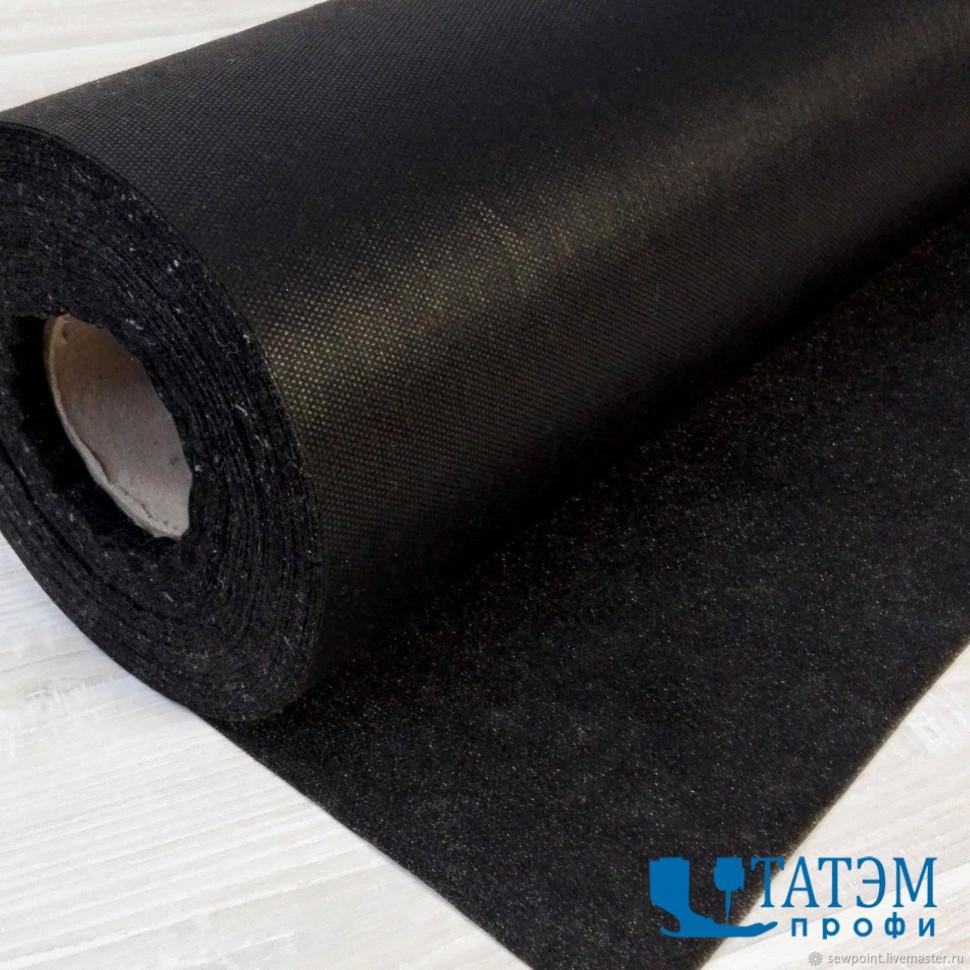 Флизелин клеевой точечный 6010, 20 г/м.кв, шир. 90 см, черный